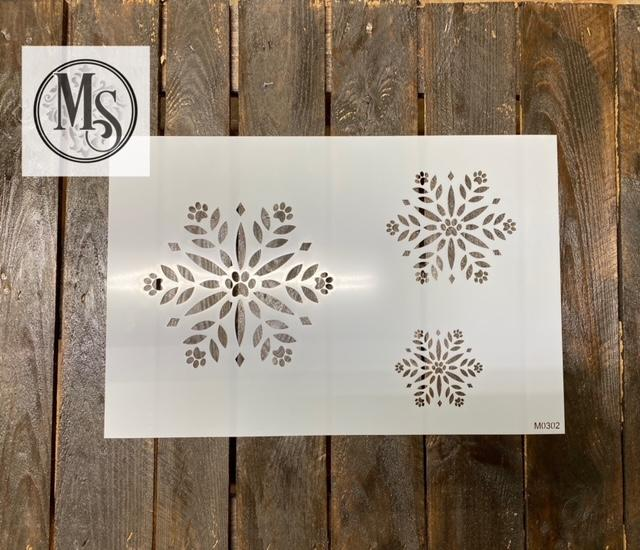 M0302 Snowflake with pawprint