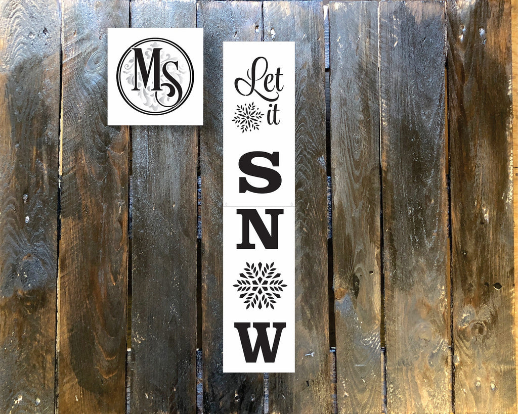 S0413 Let it Snow Vertical Sign