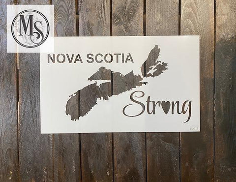 Nova Scotia Strong - map