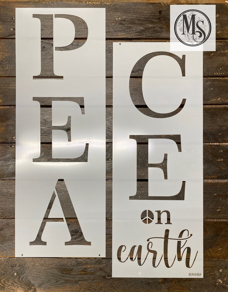 S0645 Peace on earth Vertical Sign - 3 sizes