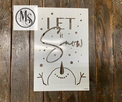 S0666 Let it Snow with Snowman looking up - 2 size options