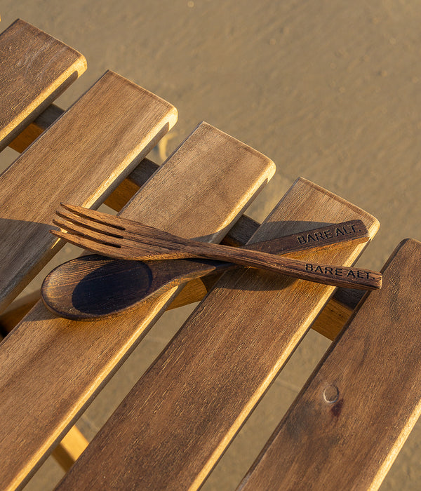 Wooden Ebony Cutlery Set