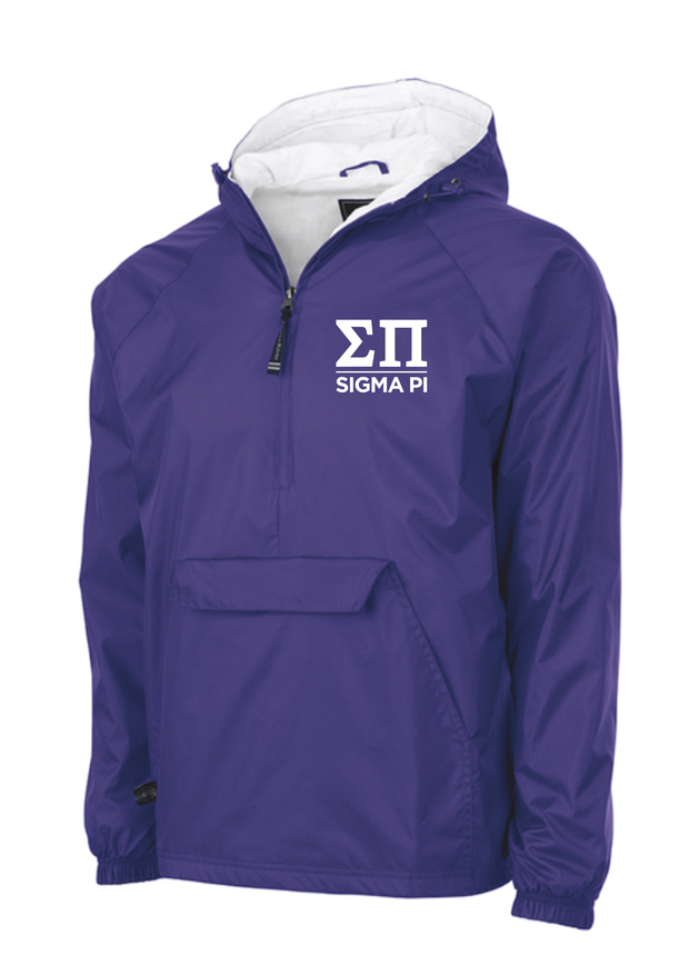 Sigma Pi Greek Letters Pullover Jacket