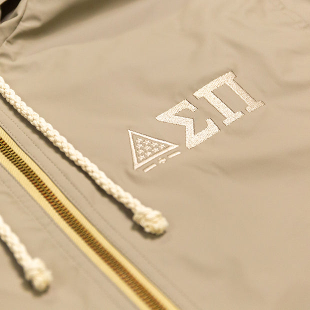 Sigma Pi Greek Letters Rain Jacket