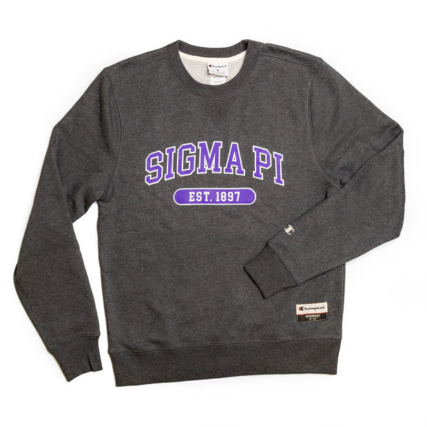 Sigma Pi Champion Sueded Crewneck