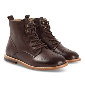Young Soles Brogue Leather Boot