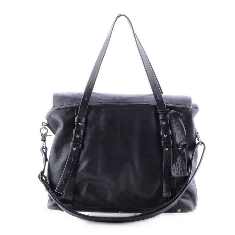 Borsa pelle donna As98 200523 nero/liz