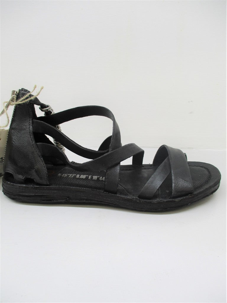 SANDALO PELLE DONNA AS98 A16002 NERO