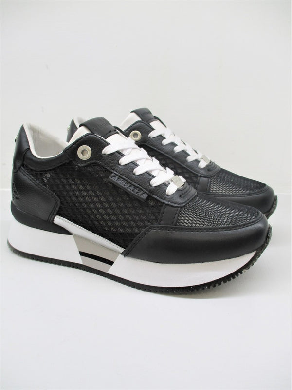 SNEAKER IN PELLE DONNA APEPAZZA ROSE NERO
