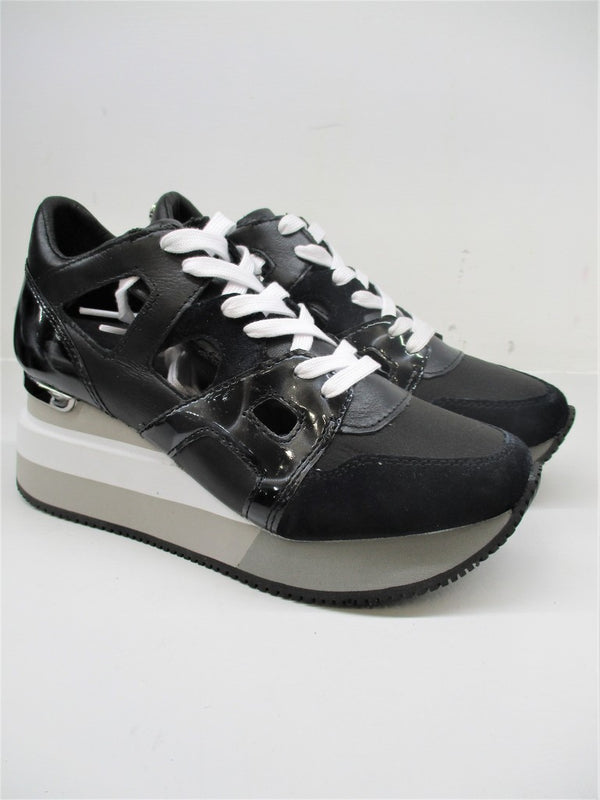 SNEAKER PELLE DONNA APEPAZZA HEATHER NERO
