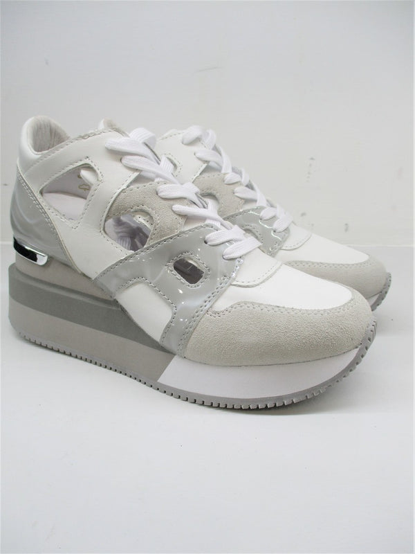 SNEAKER PELLE DONNA APEPAZZA HEATHER BIANCO