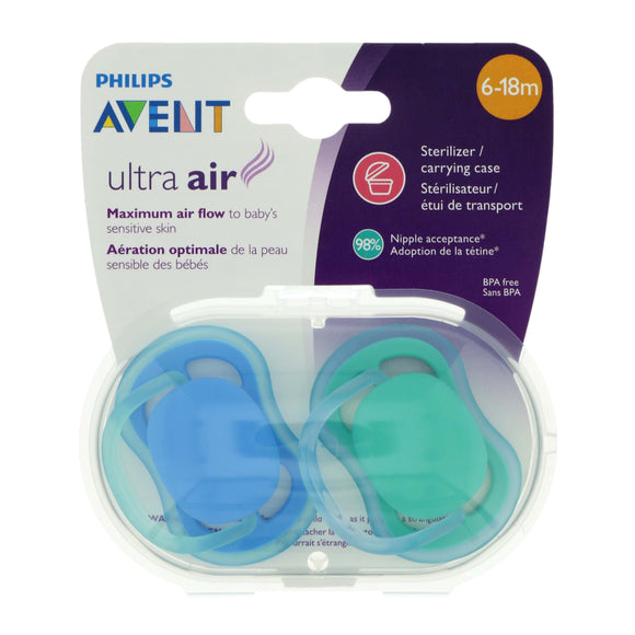 Avent soothers 6-18M plain