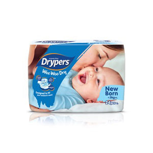 Drypers We We Dry Diapers NB 24