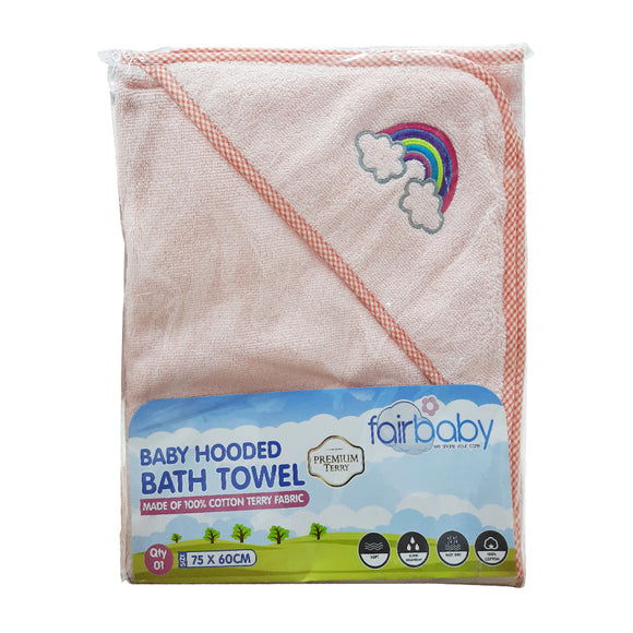 Fairbaby Baby Hooded Bath Towel-Premium Terry 75cm x 60cm