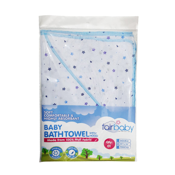 Fairbaby Bath Towel with Hood - Mull Fabric