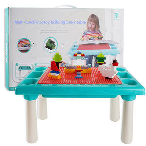 Multi-functional toy block table