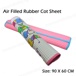 Air filled rubber cot sheet 90×60