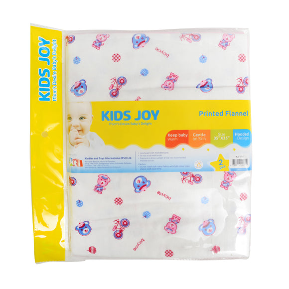 Kids joy printed flannel 2pcs