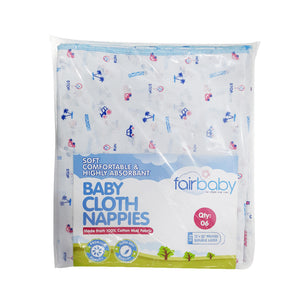 FAIRBABY NAPPY 22X22 PRINTED 6X1