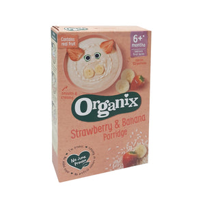 Organix strawberry & banana porridge 120g