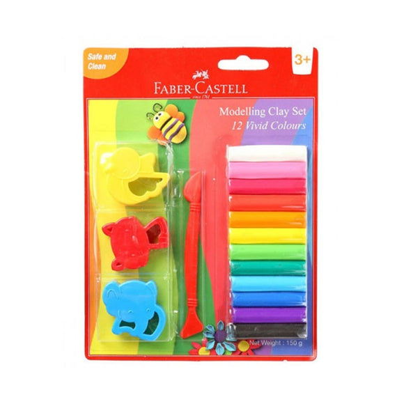 Faber-Castell 12 modelling clay set