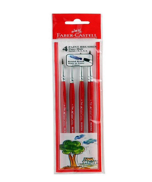 Faber-Castell round pony hair 4 brushes