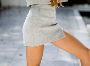MINI SKIRT & HOODY