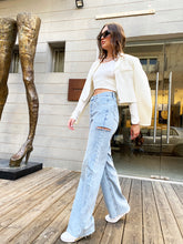 Load image into Gallery viewer, HI-RISE WIDE-LEG JEANS