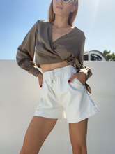 Load image into Gallery viewer, FAUX LEATHER SHORTS