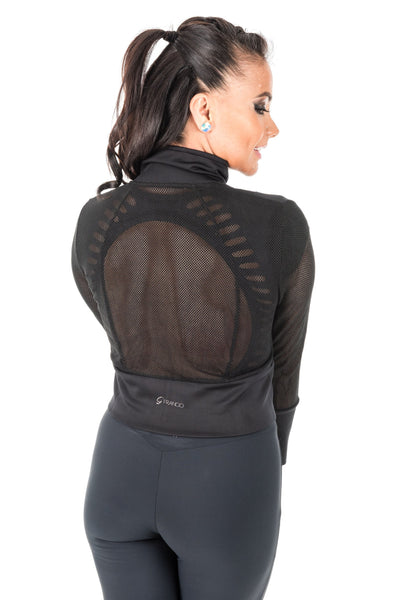 Cropped Stretch Sport Jacket - Mesh Back- Women's (410AW)