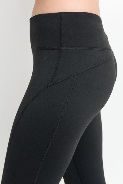 High-Waist Leggings with mesh ankle pannels - Women's (540AW)