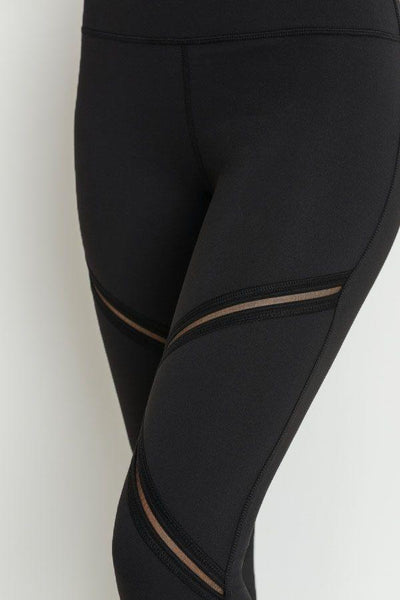 High Waist Leggings with criss-cross design - Women's (560AW)