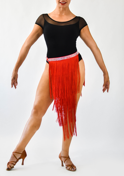 Long Fringe Double-Panel Skirt (CW135)