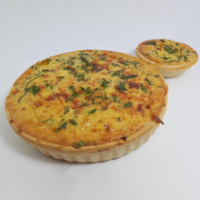 Pumpkin and Spinach Quiche