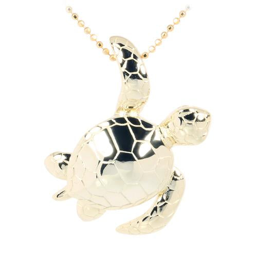 yellow gold turtle pendant