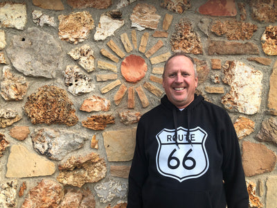 Pullover Hoodie with Route 66 Shield