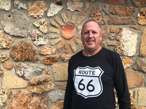 Image of Long Sleeve T-Shirt with Route 66 Shield