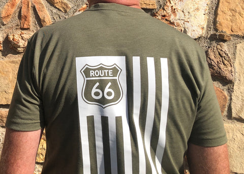 Image of Route 66 Originals American Flag and 66 Shield
