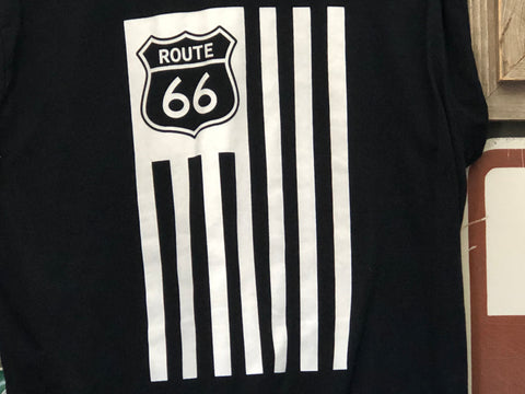 Route 66 Originals American Flag and 66 Shield
