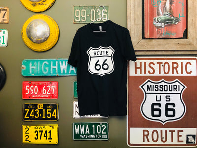 Short Sleeve T-Shirt with Route 66 Shield