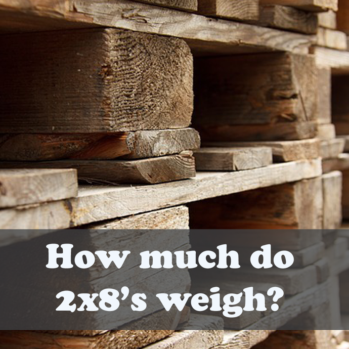 How much does a 2×8 weigh?