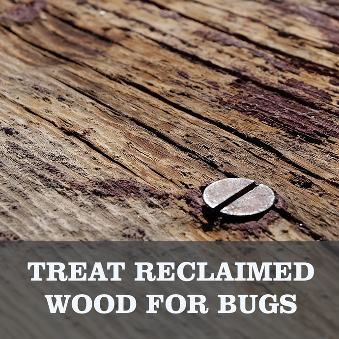 How to get Bugs out of reclaimed wood