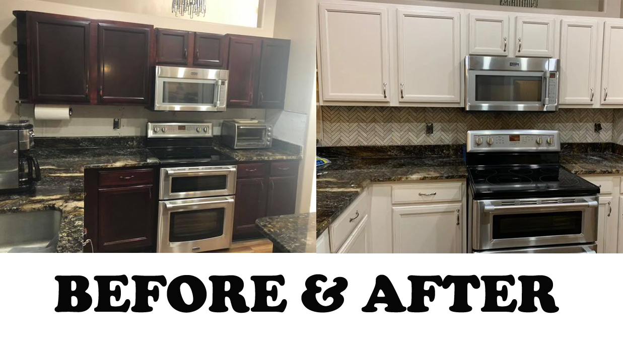 Before & after kitchen refinishing