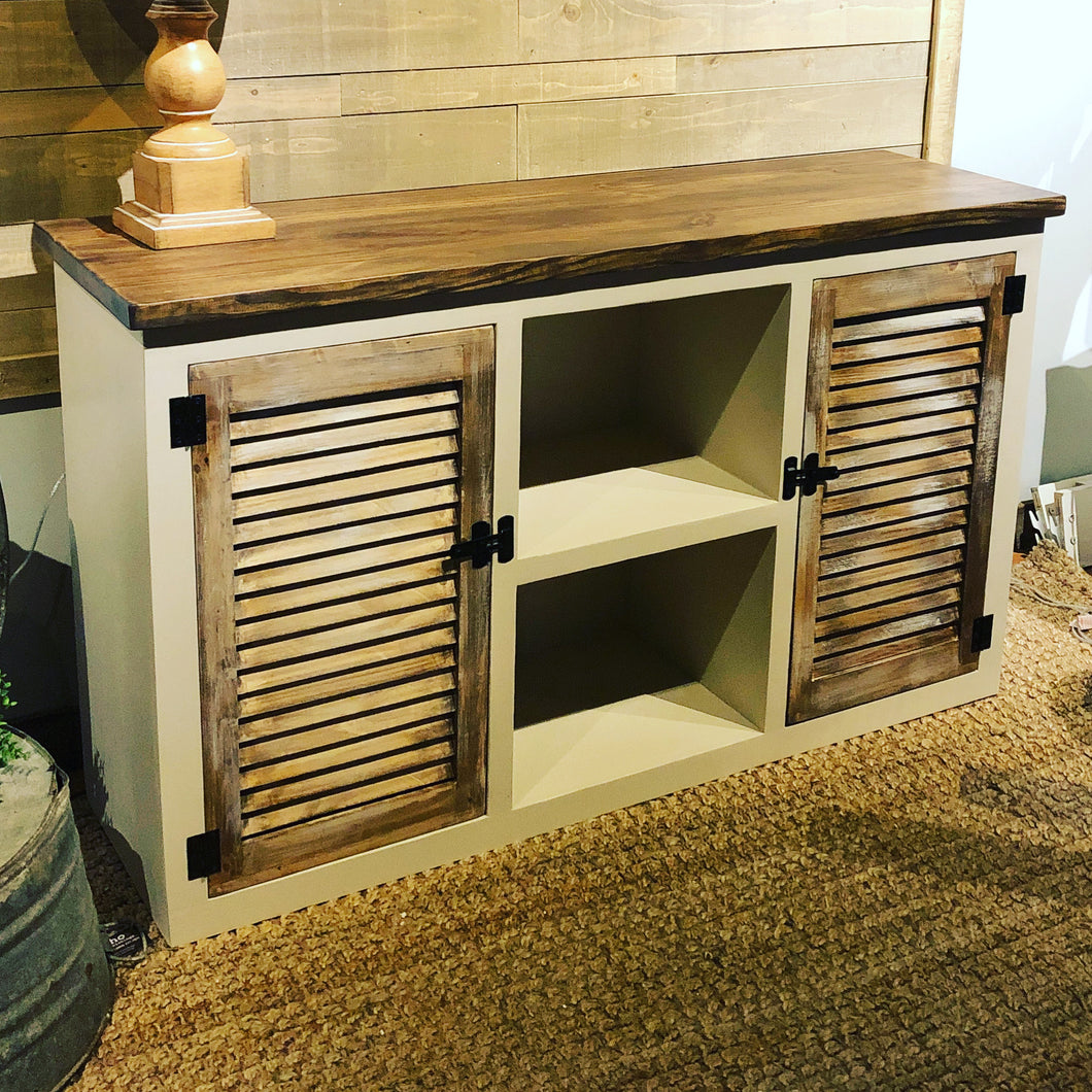 Shutter Door Style Media Console