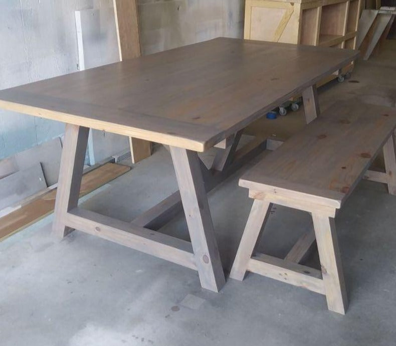 Custom Angled Leg farm table