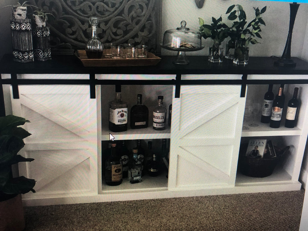 Farmhouse Barn Door Sliding | Hand Crafted Buffet | Console | Entertainment Center
