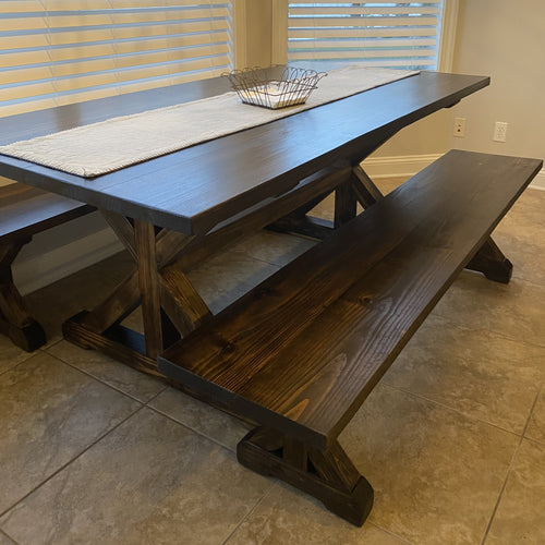 Farm House Table with X Legs