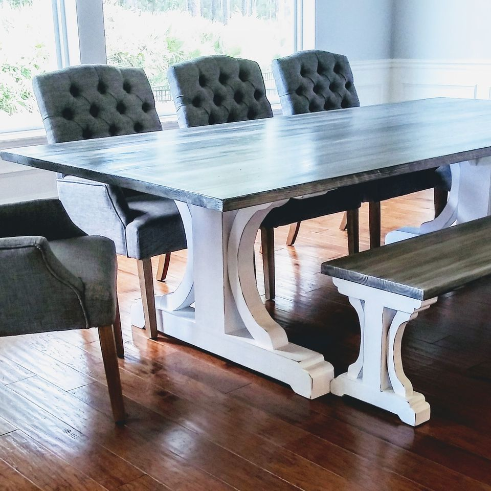 Farmhouse | Curved Leg Farm Table