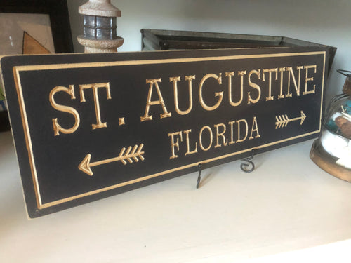 custom wood carved sign