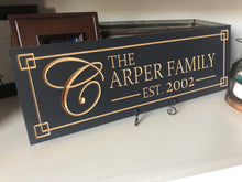 Load image into Gallery viewer, Personalized Established Wood Carved Sign